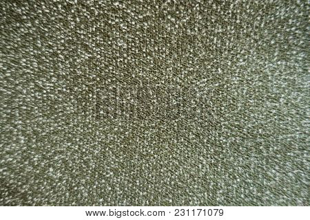 Texture Of Olive Green And White Melange Fabric
