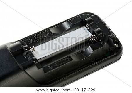 Security Tag on Cordless Phone Isolated