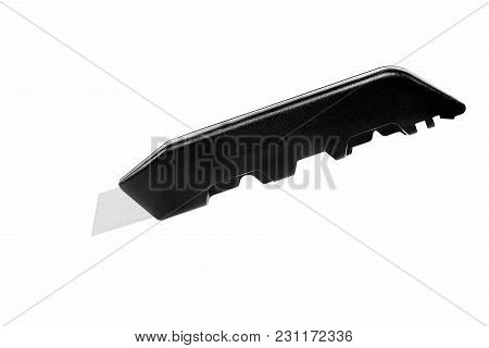 Black Cutter Knife Over A White Background
