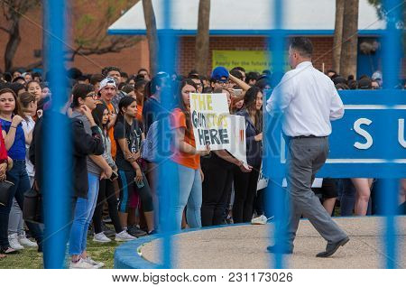 Tucson, Az - March: Students At Sunnyside High School During National School Walkout Protesting Gun