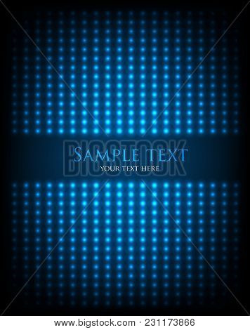 Multiple Glowing Dots With Text. Creative Vector Cover Illustration