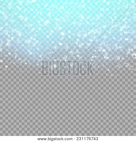Background With Falling Spangles On A Transparent Backdrop. Vector Illustration With Soaring Confett