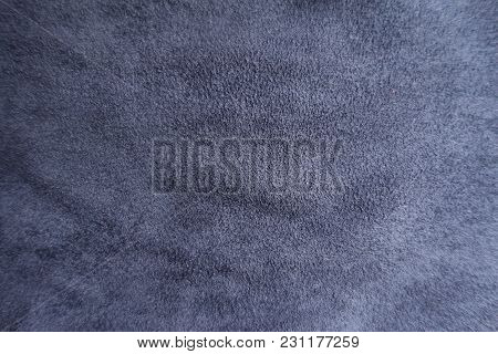 Ultramarine Artificial Suede Fabric Surface From Above