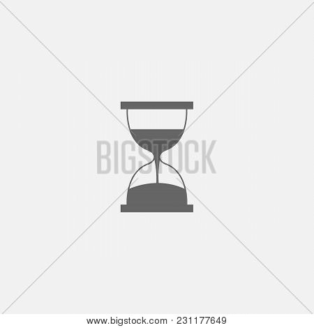 Vector Symbol Of Hourglass Web Line Isolated Icon