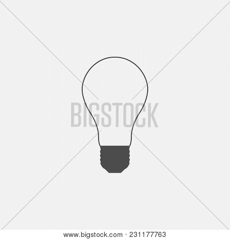 Vector Symbol Of Lightbulb Web Line Isolated Icon