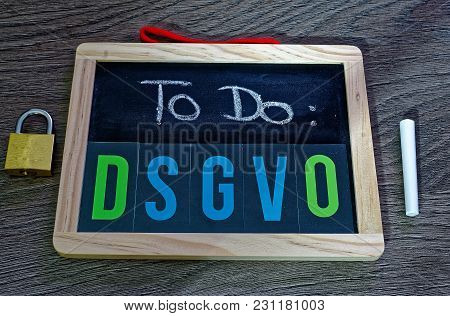 Board To Do Dsgvo (general Data Protection Regulation) In English To Do Gdpr (general Data Protectio