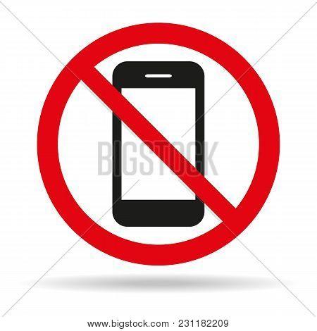 Prohibition No Photo Sign On White Background. Vector Illustration