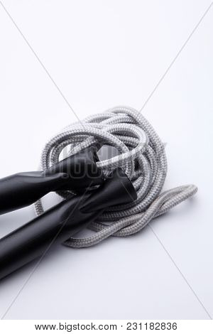 skipping rope on the white background