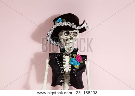 Pink Mexican Skeleton