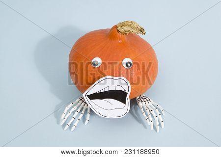 Pumpkin Mouth Skeleton