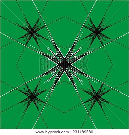 A Pattern Of Cobweb Lines In The Form Of A Star. A Star In The Web For Registration On The Internet.
