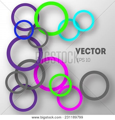 Abstract Background Of Circles With Shadows For Product Design. Modern Design. Suitable For Registra