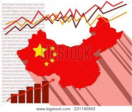 Conceptual Illustration About The Success And Economic Growth Of China