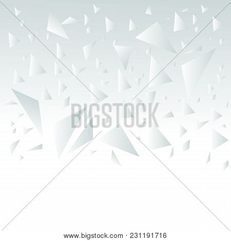 Broken Glass Light Grey Abstract Background  Triangle