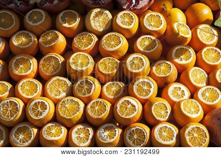 Oranges In Crates, Eminonu, Istanbul, European Side, Istanbul Province, Turkey, European Side