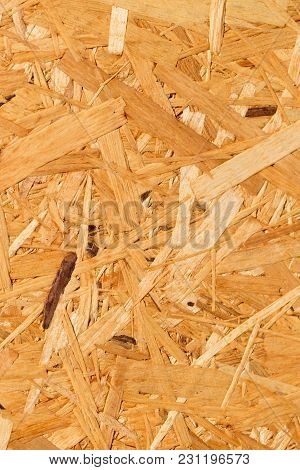 Wooden Background Glued Sawdust . Photo Of An Abstract Texture