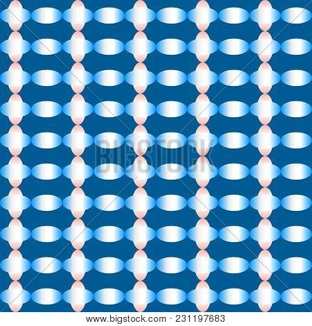 Abstract Colorful Gradient Pattern (sky Blue, Pink) Of Ellipse Shapes On Dark Blue Background. Vecto
