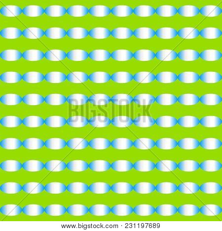 Abstract Gradient Ellipse Shape Pattern Of Sky Blue Color On Green Background. Vector Illustration.