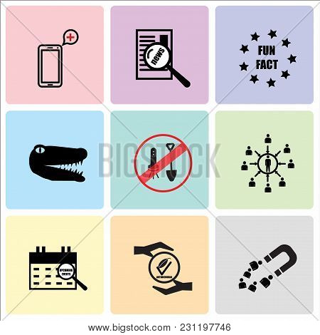 Set Of 9 Simple Editable Icons Such As Customer Acquisition, Antimicrobial, Upcoming Events, Custome