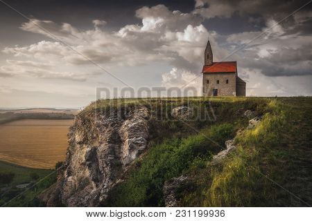 Old Roman Catholic Church Of St. Michael The Archangel On The Hill In Drazovce, Slovakia