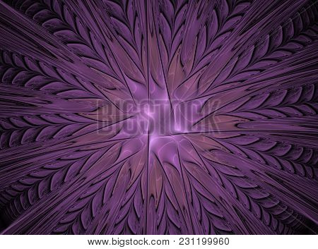 Abstract Fractal Flower Computer Generated Image, Background For Text Labels