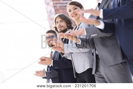 Business people hands applauding