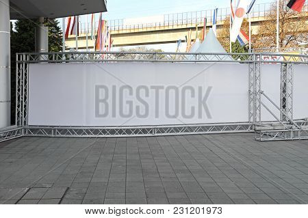 Rear View Of Stage Billboard Metal Structure