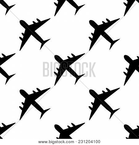 Plane Pattern. Simple Illustration Of Plane Vector Pattern For Web Eps