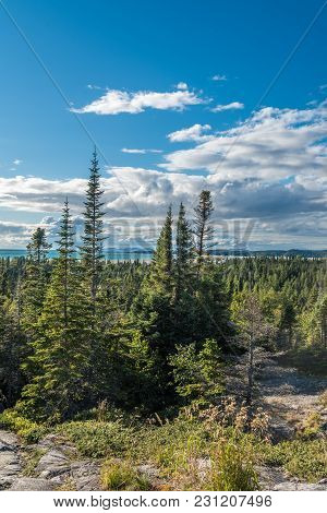 Landscape With Forest In Ontario, Pukaskwa National Park. Canada.