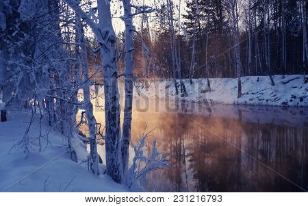 Ural Is One Of The Few Regions Of Russia Where The Nature Is Incredibly Beautiful. A Small Flow Of T