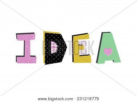 Hand Drawn Decorative Text Idea. Creative Design Element.