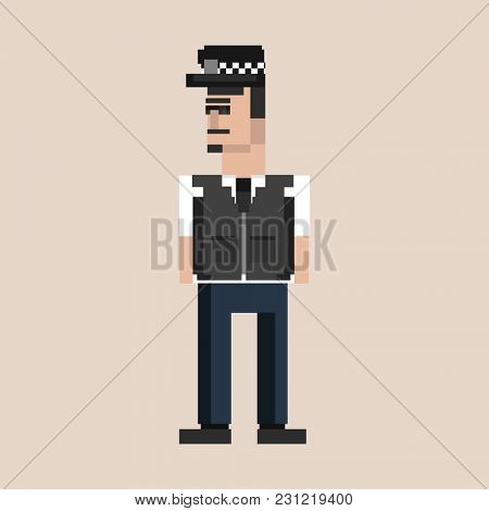Illustration of pixel man