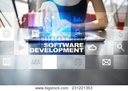 Software Development. Applications Apps For Business. Programming