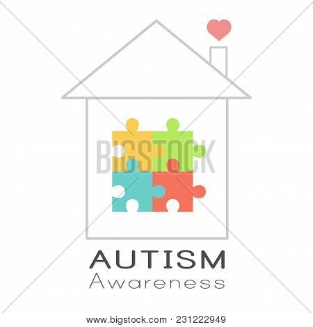 Puzzle House And Heart, World Autism Awareness Day