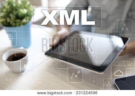 Xml. Web Development. Internet And Technology Concept