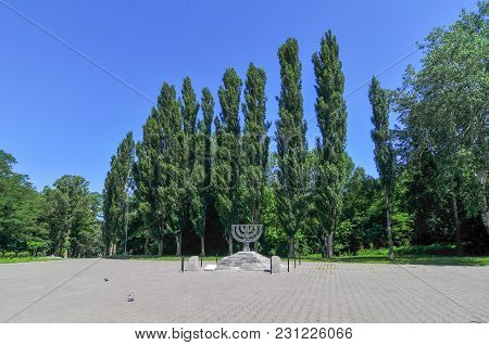 Babi Yar Menorah Monument In Kiev