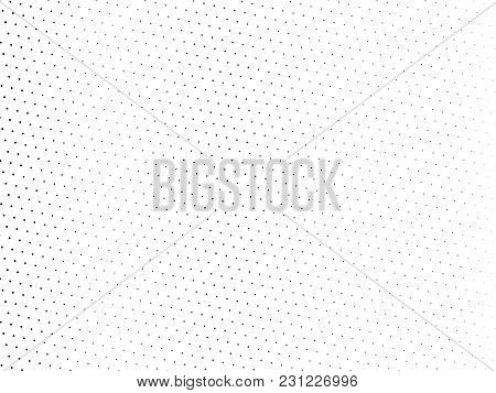 Abstract Futuristic Halftone Pattern. Comic Background. Dotted Backdrop With Circles, Dots, Point La