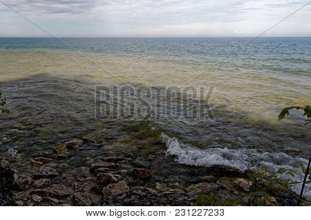 The Shoreline Of Lake Michigan In Northern Wisconsin