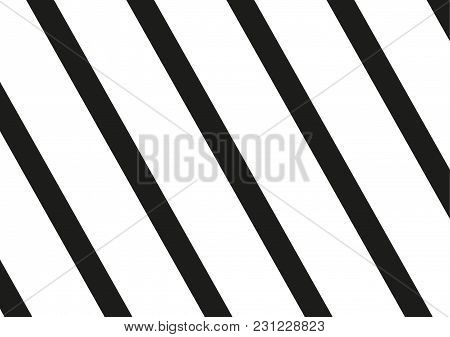 Black Stripes On White Background. Striped Diagonal Pattern Vector Illustration Of  Background With