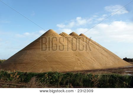 'The Four Pyramids' Nice Looking, Huge Gravel Heaps