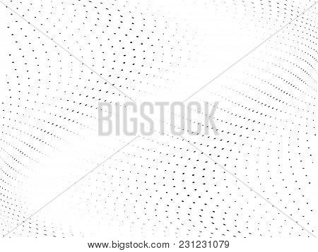 Wavy Halftone Pattern. Comic Background. Dotted Backdrop With Circles, Dots, Point Small Scale. Desi