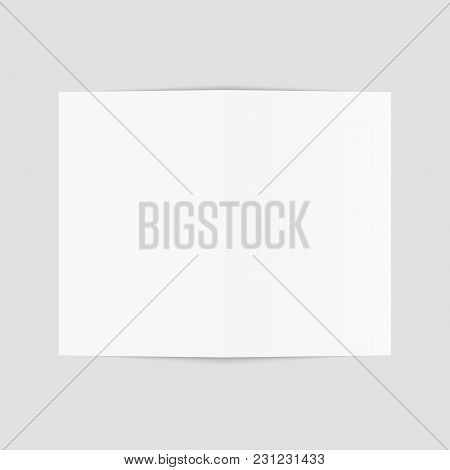 Blank Of Brochure, Flyer, Magazine Or Business Card. Vector