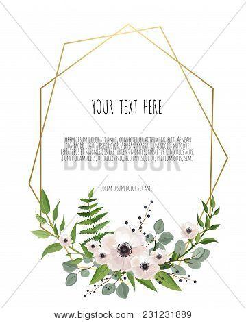 Stylish Floral Vector Design Round Frame. Vector Illustration. Frame Border With Copy Space. Eps10