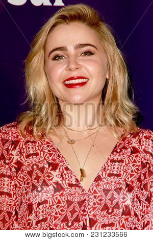 Mae Whitman arrives at the 2018 NBCUniversal Winter Press Tour at The Langham Huntington Hotel in Pasadena, California on January 9, 2018.