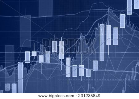 Uptrend - Stock market graph and bar chart - Financial and business background
