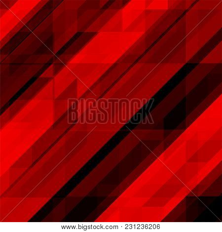 Abstract Geometric Background Of Triangles With Overlapping. Vector Illustration. Eps 10