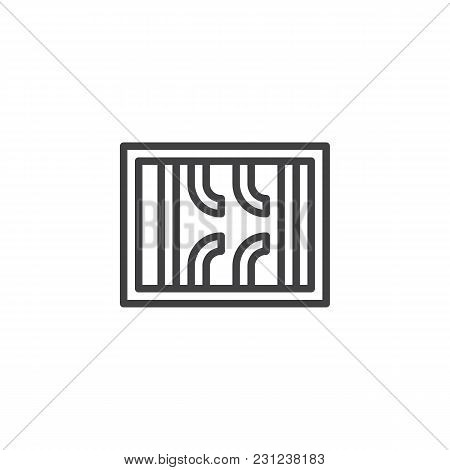 Prison Break Outline Icon. Linear Style Sign For Mobile Concept And Web Design. Broken Prison Bars S