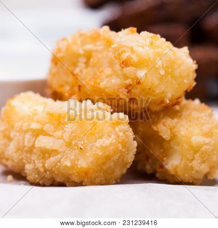 Close up Fried chicken nuggets