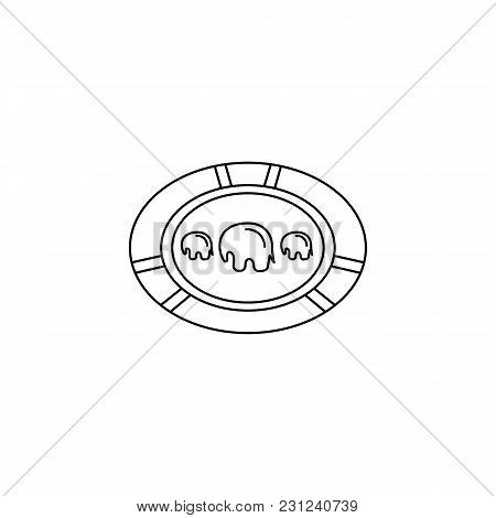 African Plate Icon. Outline African Plate Vector Icon For Web Design Isolated On White Background
