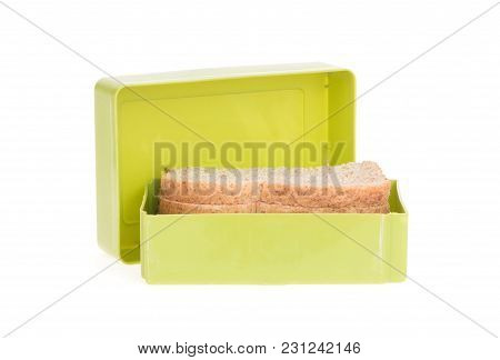 Simple Old Lunch Box Isolated